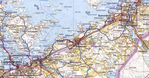 LappeenrantaImatra Cycling Map